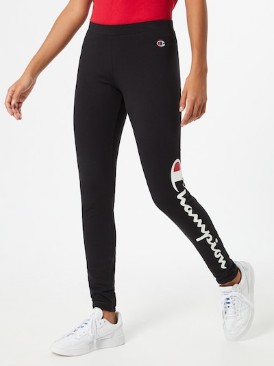 Champion Authentic Athletic Apparel Leggings in schwarz / weiß, Modelansicht