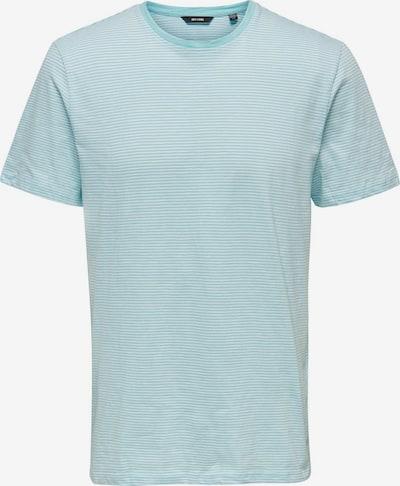 Only & Sons Einfarbiges T-Shirt in blau / weiß, Produktansicht