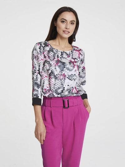 Bluză heine pe gri / roz / alb, Vizualizare model