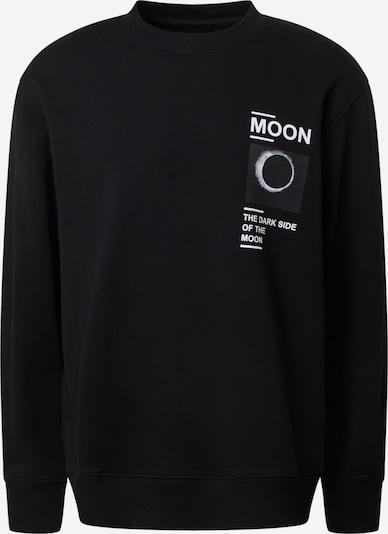 Samsoe Samsoe Sweatshirt 'Moon' in schwarz / weiß, Produktansicht