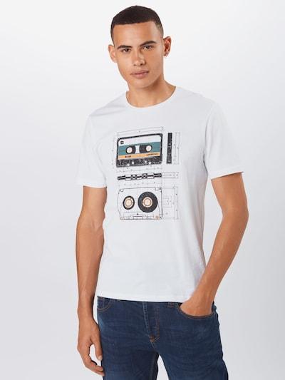 ARMEDANGELS Tričko 'Jaames Cassettes' - žltá / čierna / biela: Pohľad spredu
