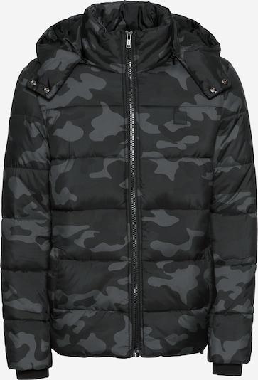 Urban Classics Winterjas in de kleur Grijs / Basaltgrijs / Zwart: Vooraanzicht