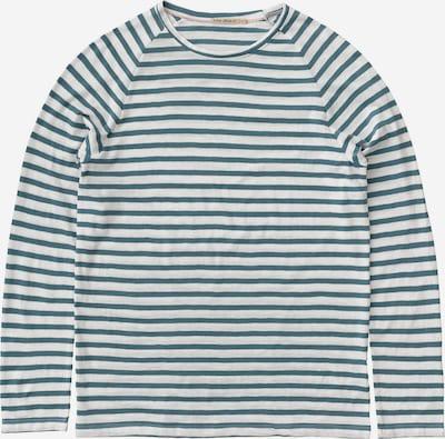 Nudie Jeans Co Langarmshirt 'Otto Breton' in türkis / weiß, Produktansicht