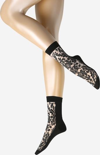 Wolford Socken 'Diana' in schwarz / weiß, Produktansicht