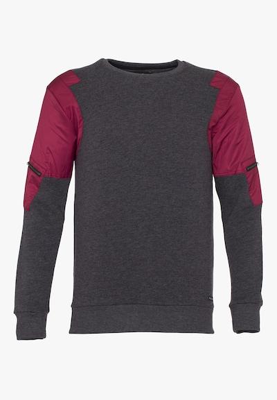 PLUS EIGHTEEN Sweatshirt in de kleur Antraciet / Donkerrood, Productweergave