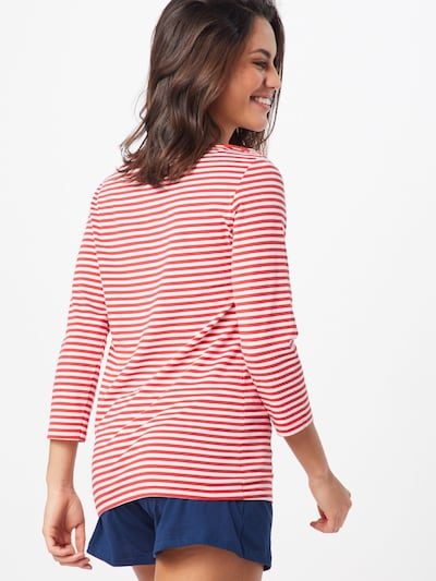 Short Stories Shirt in rot / weiß: Rückansicht