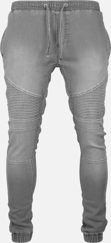 Urban Classics Joggpants 'Biker' in grey denim, Produktansicht