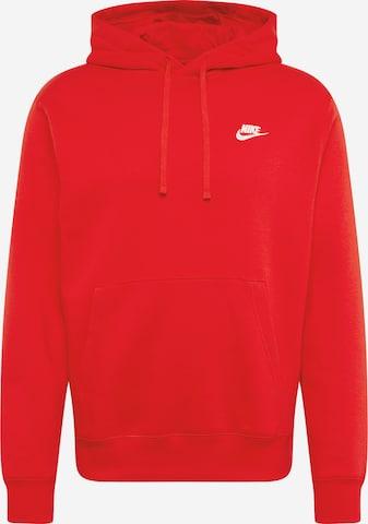 Nike Sportswear Sweatshirt 'Club' in Red