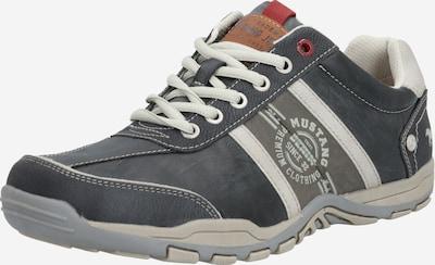 MUSTANG Športové šnurovacie topánky - sivá / biela, Produkt