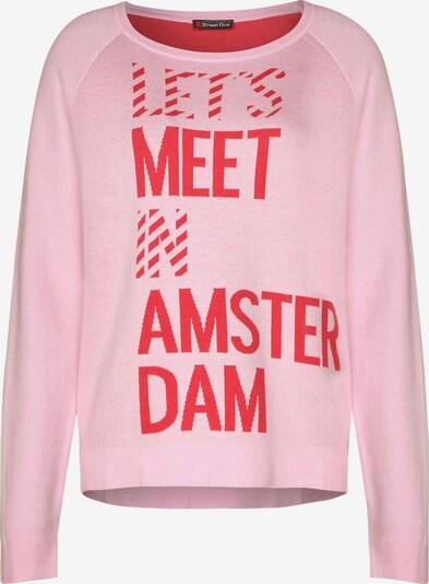 STREET ONE Pullover mit Schriftzug in pink, Produktansicht