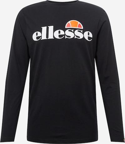 ELLESSE Camiseta 'GRAZIE' en negro / blanco, Vista del producto