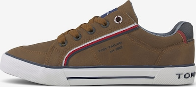 TOM TAILOR Shoes Sneaker in Lederoptik in braun, Produktansicht