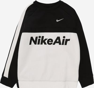 Nike Sportswear Sweatshirt 'B NSW NIKE AIR CREW' in schwarz / weiß, Produktansicht