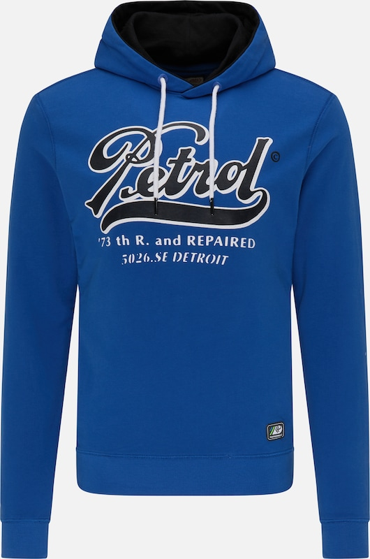 Petrol Industries Sweatshirt in blau: Frontalansicht