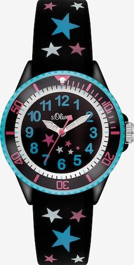 s.Oliver Uhr in hellblau / pink / schwarz / weiß, Produktansicht