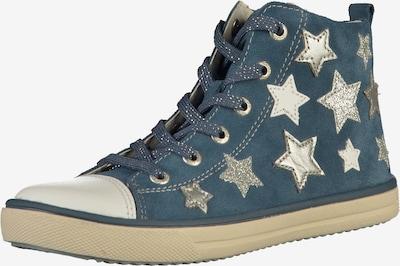 LURCHI Sneaker in himmelblau / silber / weiß: Frontalansicht