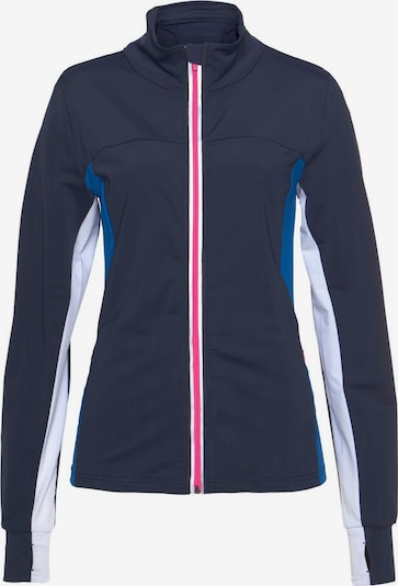 LASCANA ACTIVE Laufjacke 'Hot and Cold' in marine / himmelblau / pink / weiß, Produktansicht