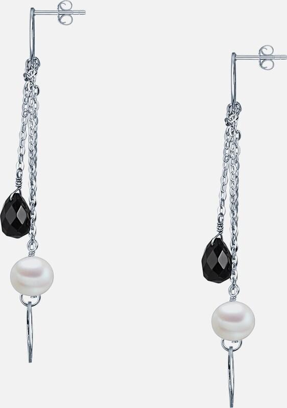Valero Pearls Silberohrhänger mit Süßwasser-Zuchtperlen und Onyx