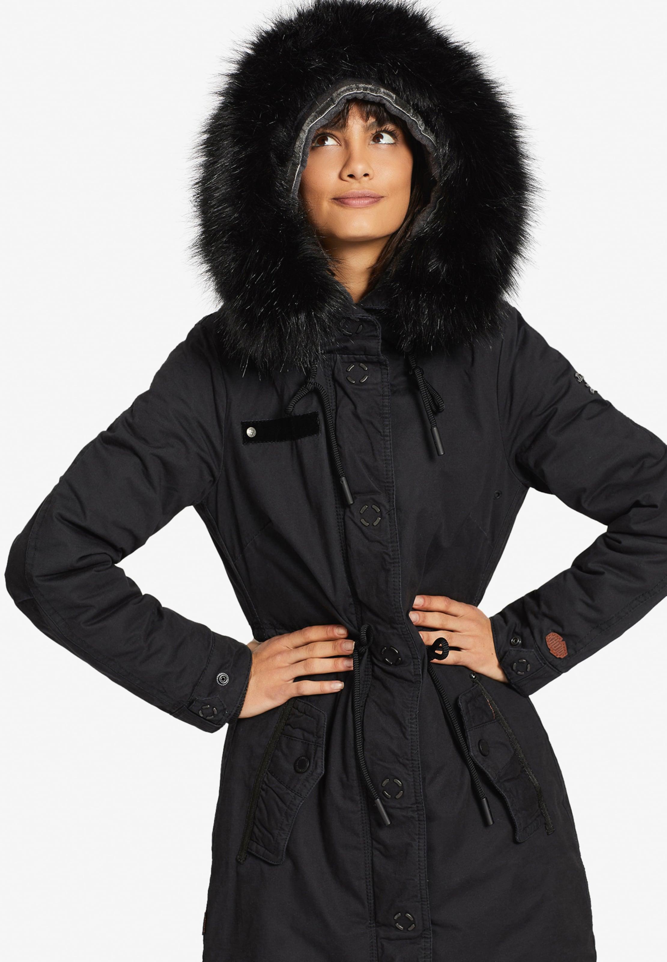 Mantel Adelisa Jacket With Inner ' In Schwarz Khujo N0wm8n