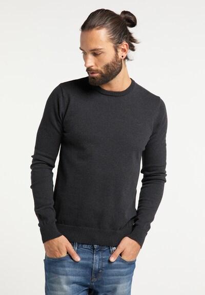 DREIMASTER Pullover 'Vintage' in schwarz: Frontalansicht