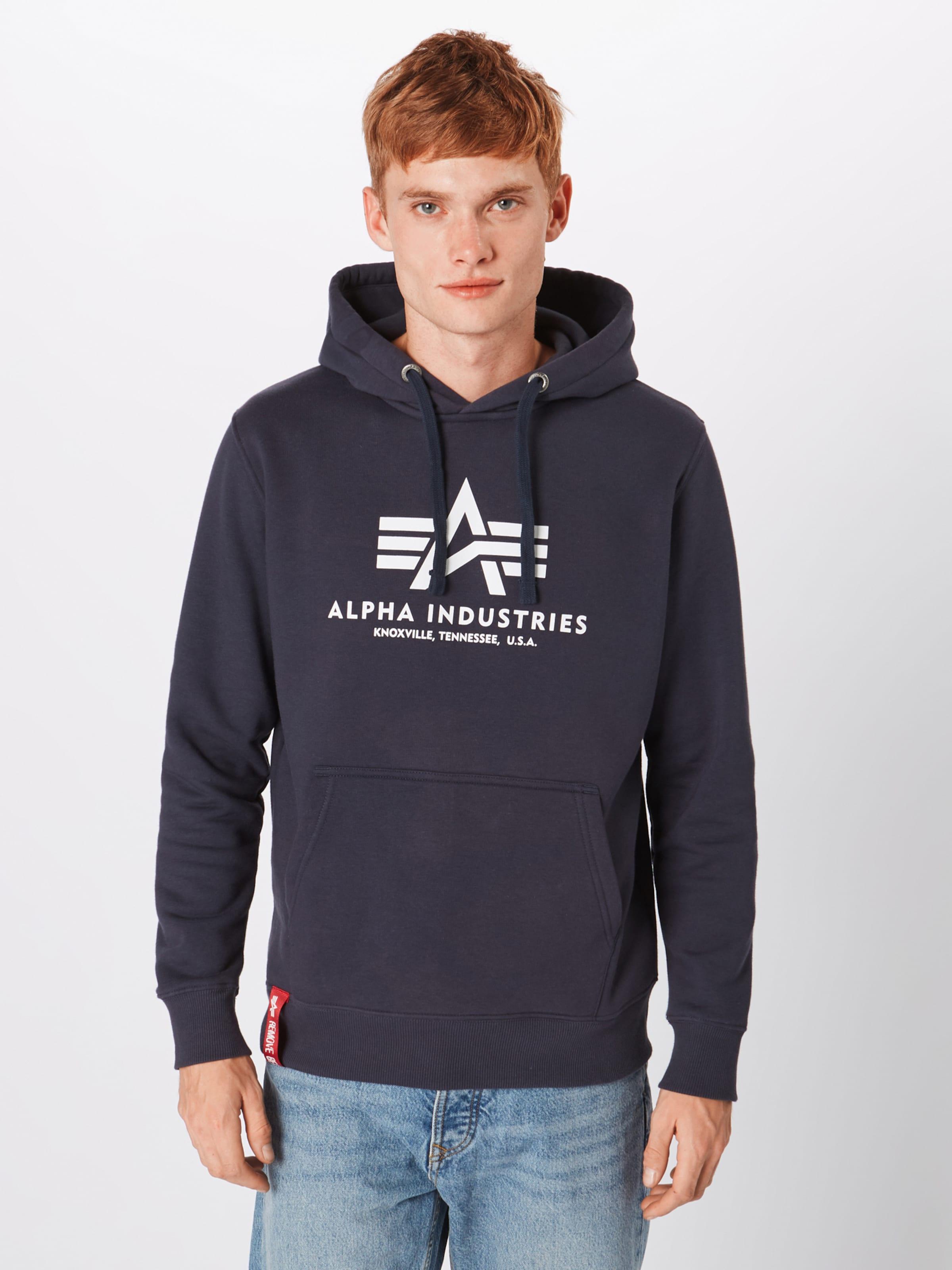 'basic' En Alpha Naturel Sweat Industries MarineBlanc shirt ucT13FKlJ