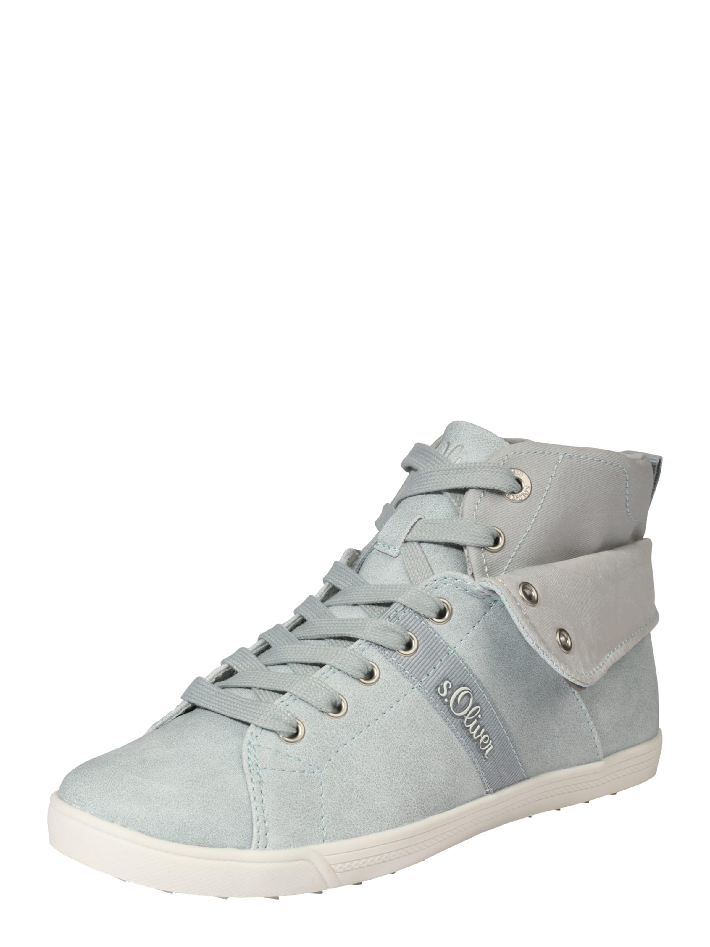 S.oliver Étiquette Rouge Hautes Chaussures De Sport Bleu MqVWp9
