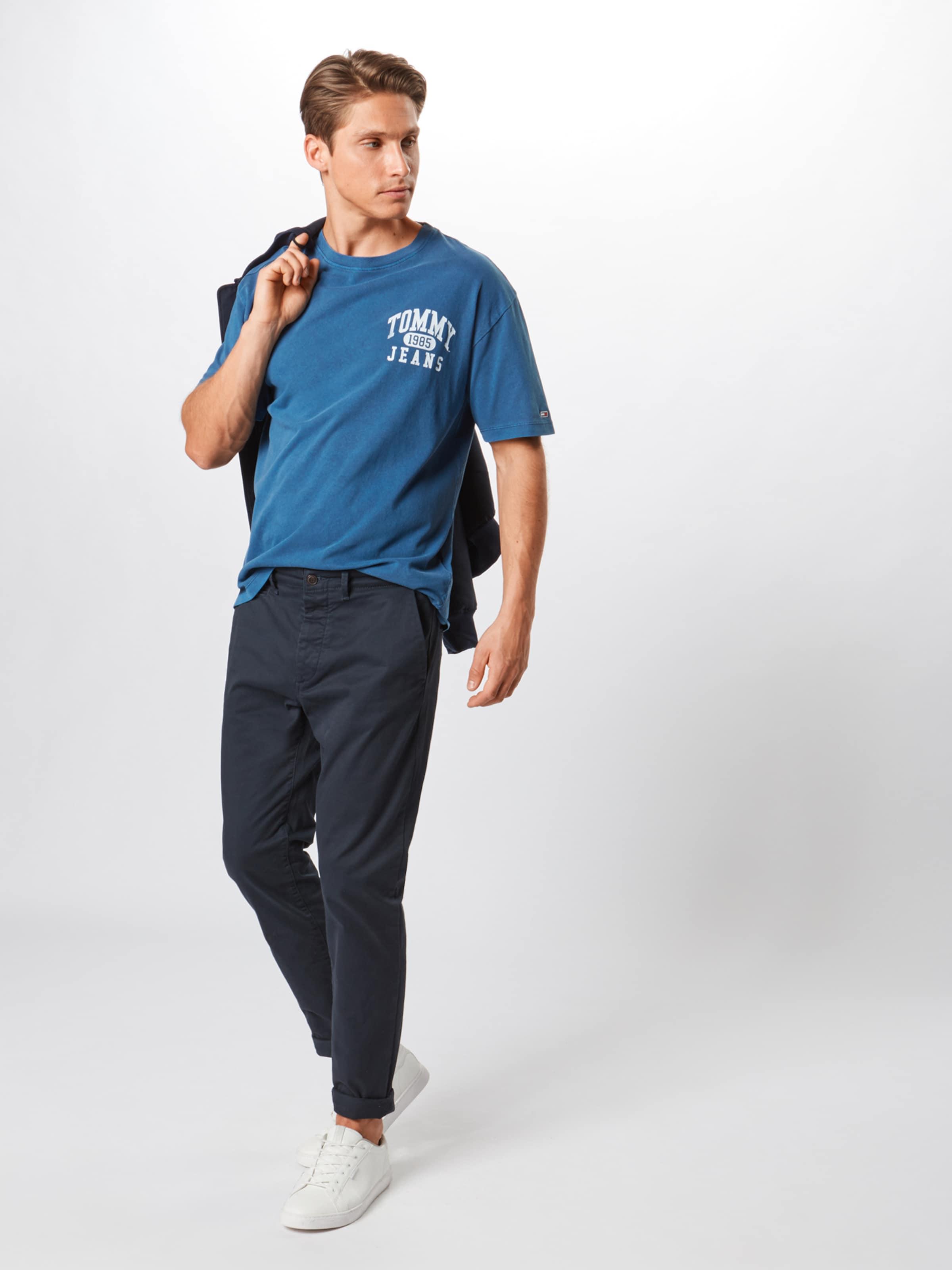 Tommy Shirt Jeans Graphic' DunkelblauWeiß 'washed In TJK15lFc3u