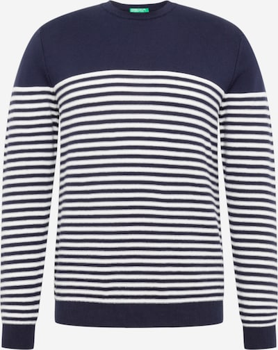 UNITED COLORS OF BENETTON Pull-over en bleu / blanc, Vue avec produit