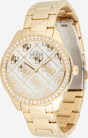GUESS Uhr 'Sugar' in gold / transparent / weiß, Produktansicht