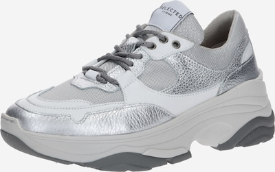 SELECTED FEMME Sneaker 'SLFGAVINA' in grau / silber / weiß: Frontalansicht