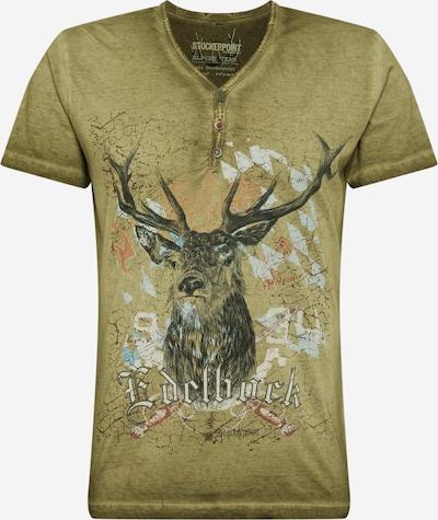 STOCKERPOINT Shirt 'Günther' in rauchblau / hellgrau / khaki / rot / schwarzmeliert, Produktansicht
