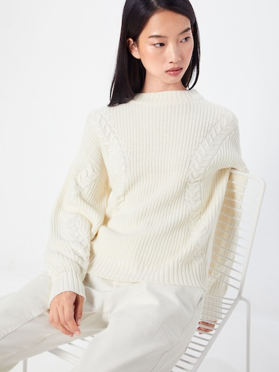 b.young Pullover in creme, Modelansicht