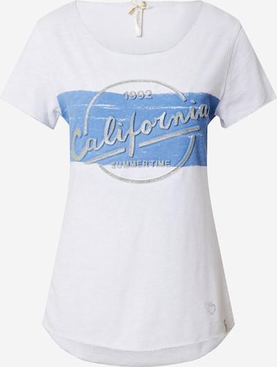 Key Largo Shirt 'SUMMER TIME' in blau / silbergrau / weiß, Produktansicht