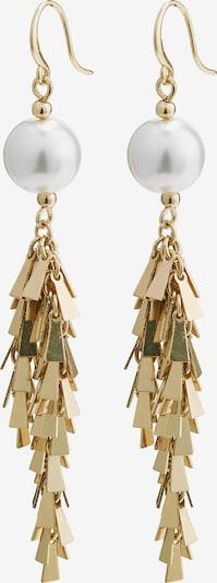 Pilgrim Ohrhänger 'Beline' in gold / perlweiß, Produktansicht