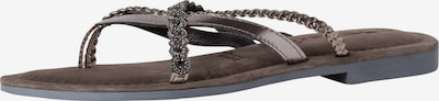 TAMARIS T-bar sandals in Black / Silver, Item view