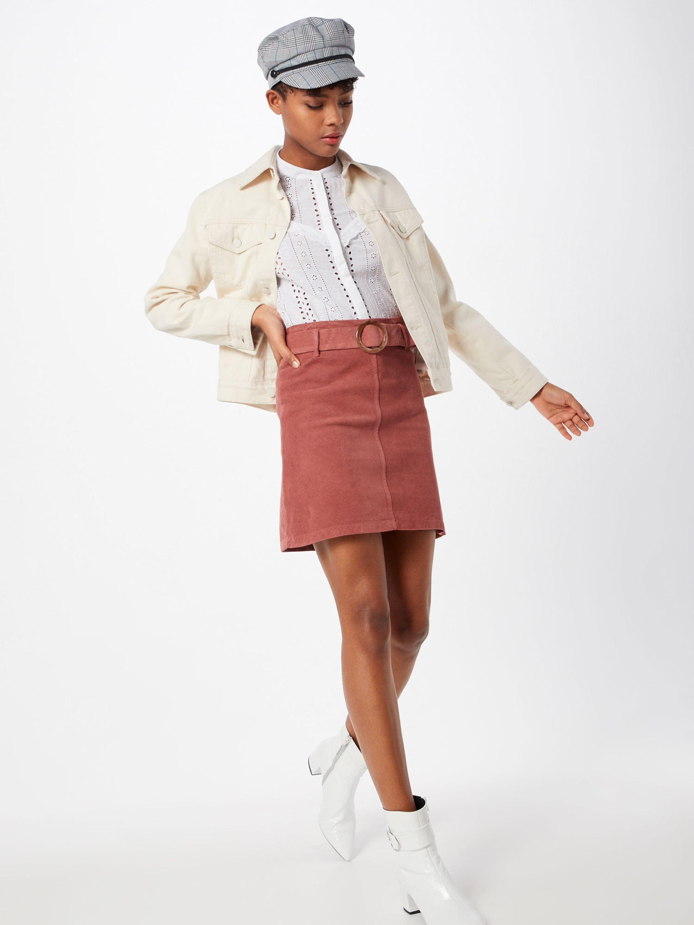 Skirt' In Rock Rosa Look Cord New 'buckle QWdECBrxoe