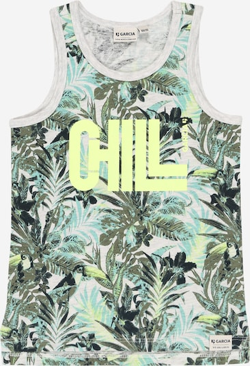 GARCIA Shirt in türkis / hellgrau / grün / khaki, Produktansicht