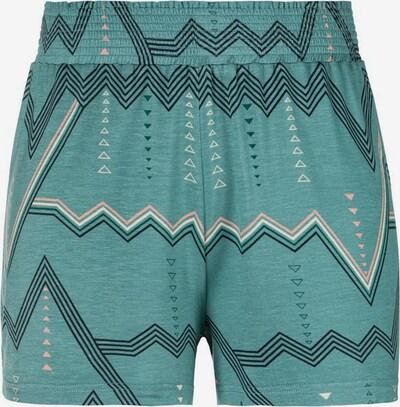LASCANA Pyjamashorts in beige / grün / weiß, Produktansicht