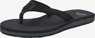 QUIKSILVER Teenslippers 'CARVER SUEDE' in de kleur Zwart, Productweergave