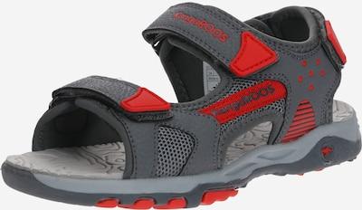 KangaROOS Vaļējas kurpes 'K-Celtic' pieejami pelēks / sarkans, Preces skats