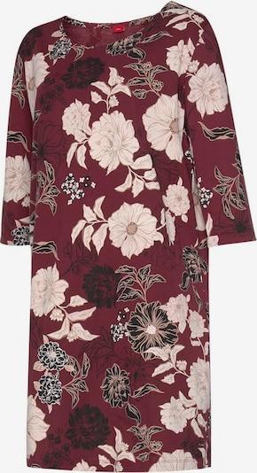 s.Oliver Nachthemd in beige / bordeaux / schwarz, Produktansicht