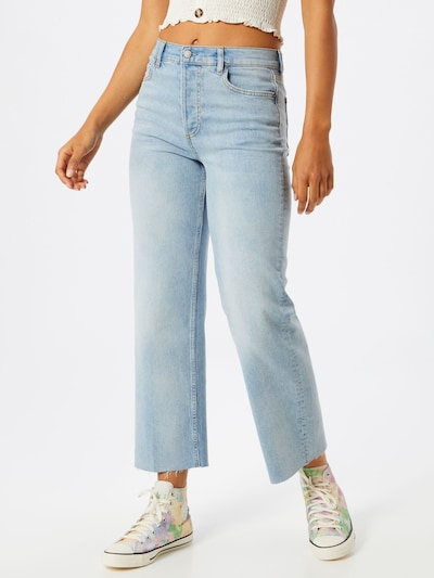 Boyish Jeans 'Mikey Crop Flare' in blue denim, Modelansicht