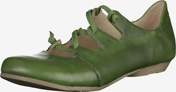 JOSEF SEIBEL Ballet Flats with Strap 'Fiona' in Green