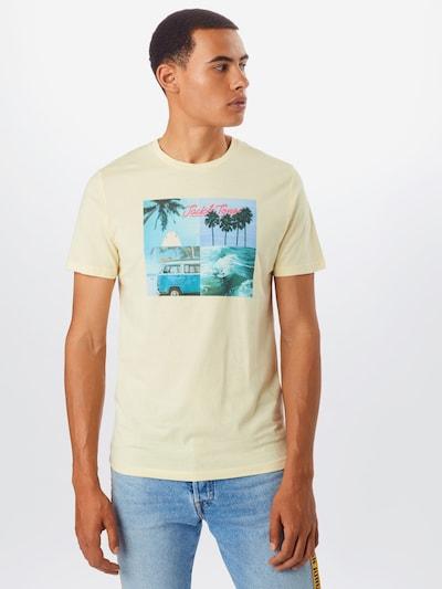 JACK & JONES Koszulka 'JORSUITE TEE SS CREW NECK' w kolorze kremowym: Widok z przodu