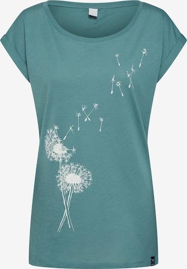Iriedaily T-shirt 'Pusteblume' en vert, Vue avec produit