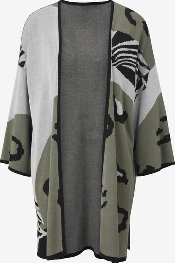 Geacă tricotată heine pe gri / verde închis / negru, Vizualizare produs