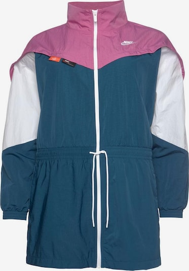 Nike Sportswear Kevad-sügisjope sinine / roosa / valge, Tootevaade