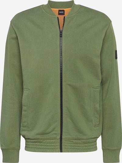 BOSS Sweatvest 'Zomber' in de kleur Groen, Productweergave