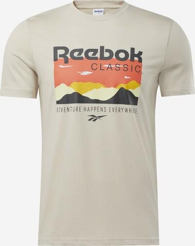 Reebok Classic Shirt in de kleur Crème / Gemengde kleuren: Vooraanzicht
