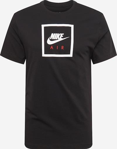 Nike Sportswear T-Krekls 'AIR' pieejami melns / balts, Preces skats